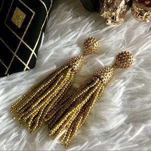 """Jewelry - ✨New! """"Beaded in Gold"""" Tassel Earrings"""